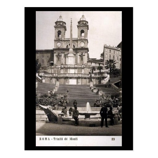 Old Postcard - Rome, Spanish Steps