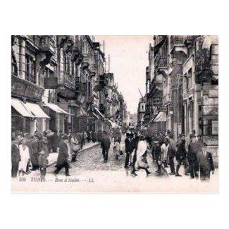 Old Postcard - Rue d'Italie, Tunis