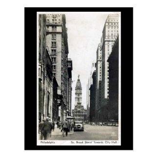Old Postcard - S Broad St, Philadelphia PA