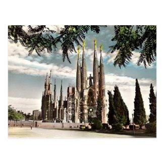 Old Postcard - Sagrada Familia, Barcelona
