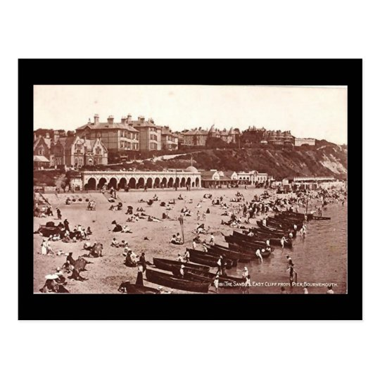 Old Postcard - Sands and East Cliff, Bournemouth