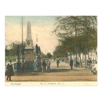 Old Postcard - Santiago, Chile