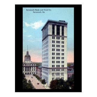Old Postcard - Savannah Bank and Trust Co