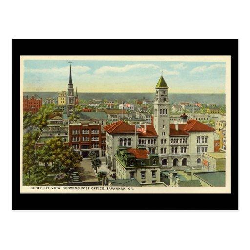 Old Postcard, Savannah, Georgia, USA