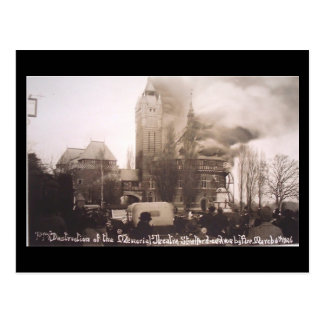 Old Postcard - Shakespeare Memorial Theatre Fire,