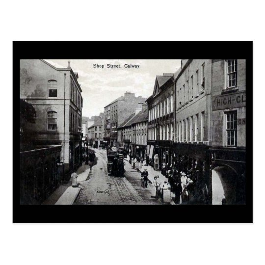 Old Postcard - Shop St, Galway, Ireland