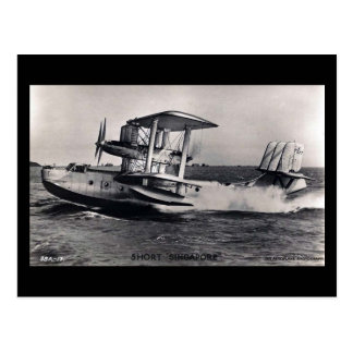 "Old Postcard, Short ""Singapore"" Flying Boat Postcard"