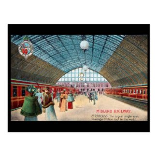 Old Postcard - St Pancras Station, London
