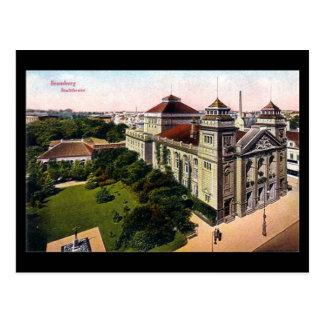Old Postcard - Stadttheater, Bydgoszcz, Poland
