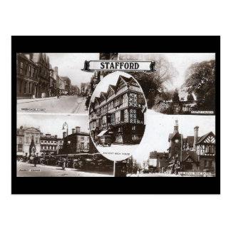 Old Postcard - Stafford, England