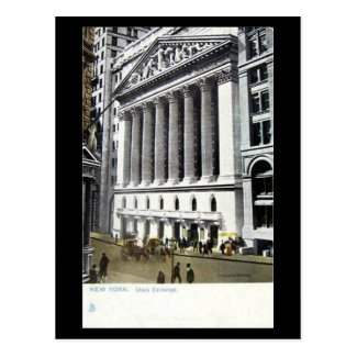 Old Postcard - Stock Exchange, New York City