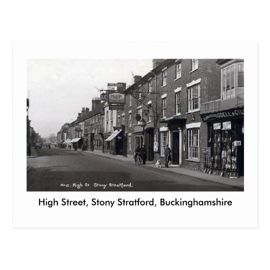 Old Postcard, Stony Stratford High Street Postcard