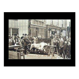 Old Postcard, Stratford-upon-Avon Mop 1897 Postcard