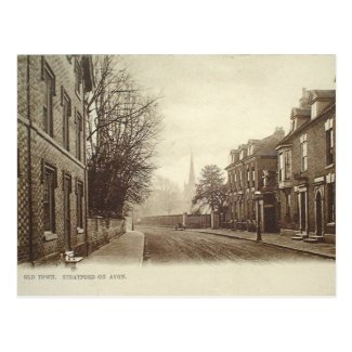 Old Postcard - Stratford-upon-Avon, Old Town