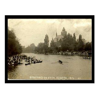 Old Postcard, Stratford-upon-Avon Regatta Postcard