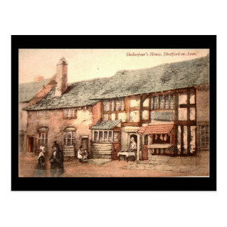 Old Postcard - Stratford-upon-Avon, Shakespeare's