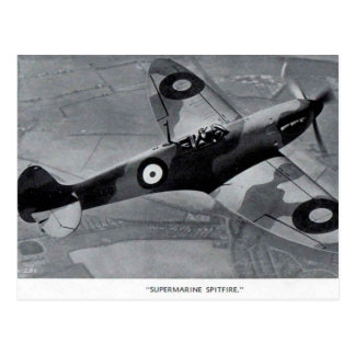 Old Postcard - Supermarine Spitfire