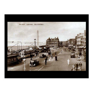 Old Postcard, Talbot Square, Blackpool Postcard