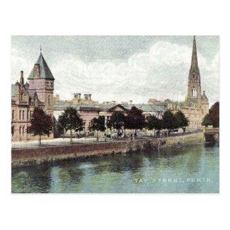 Old Postcard - Tay St, Perth, Scotland