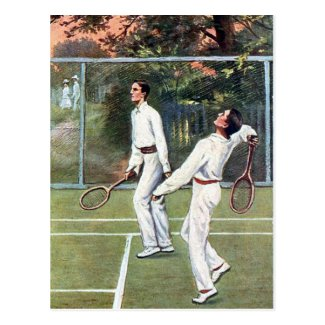 Old Postcard - Tennis