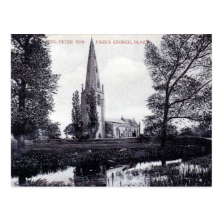 Old Postcard - the Church, Olney, Bucks