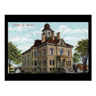 Old Postcard - The Jail, Augusta, Maine