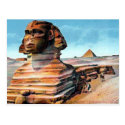Old Postcard - The Sphinx, Cairo, Egypt