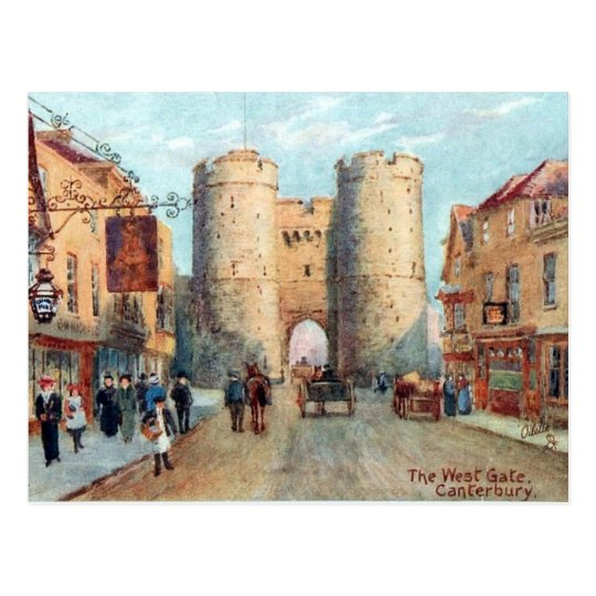 Old Postcard - The West Gate, Canterbury, Kent