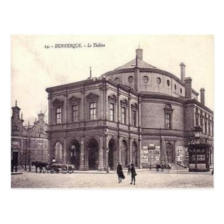 Old Postcard - Theatre, Dunkerque, Nord