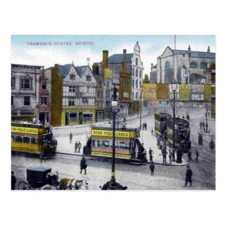 Old Postcard - Tramways Centre, Bristol