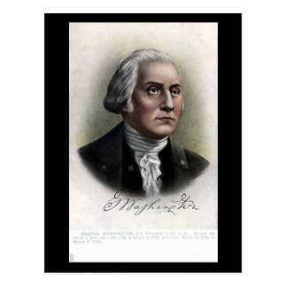 Old Postcard - US President George Washington