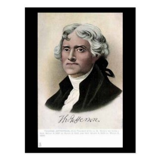 Old Postcard - US President Thomas Jefferson