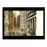 Old Postcard, Wall Street, New York City Post Card