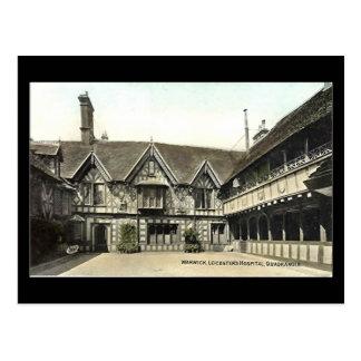 Old Postcard,  Warwick, Leycester Hospital Postcard