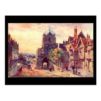Old Postcard, Warwick, West Gate Postcard