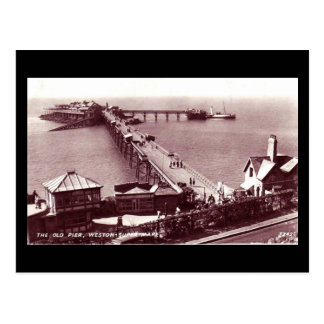 Old Postcard, Weston-super-Mare, Old Pier Postcard