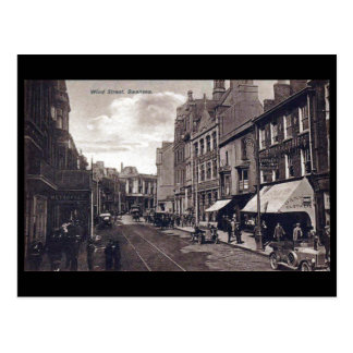 Old Postcard - Wind Street, Swansea