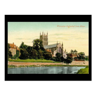 Old Postcard - Worcester Cathedral