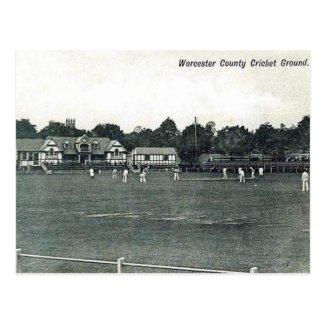 Old Postcard - Worcester Cricket Ground