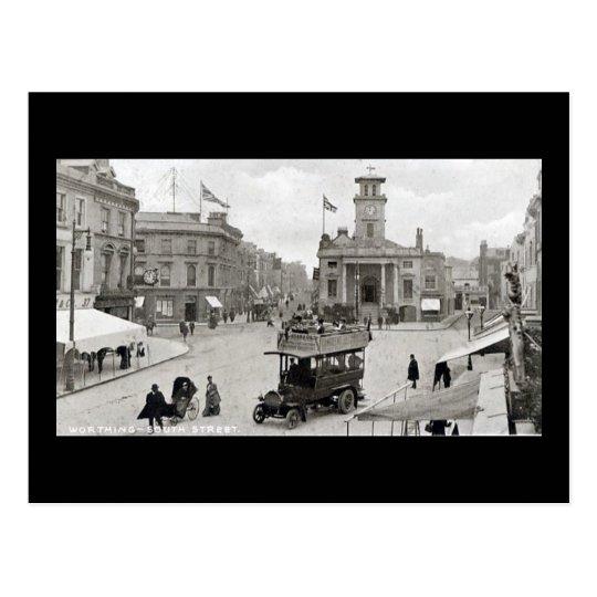 Old Postcard, Worthing, South Street Postcard