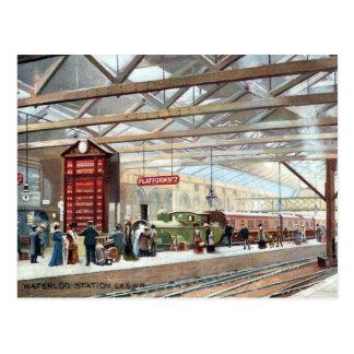 Old Postcards - Waterloo Station, London