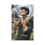 Old Potato man statue Sioux Falls SD Mckennan Park Stretched Canvas Prints