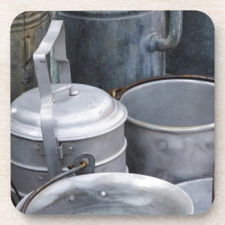 old pots and pans coaster