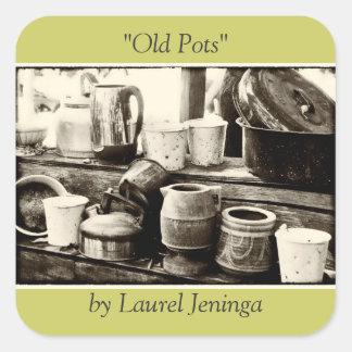 """Old Pots"" Sticker"