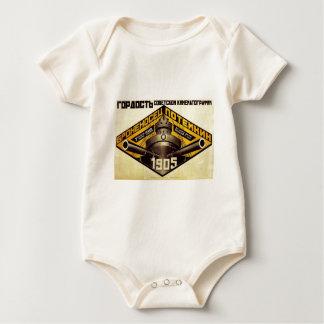 Old Pre Soviet Russian Propaganda Apparel Baby Bodysuit