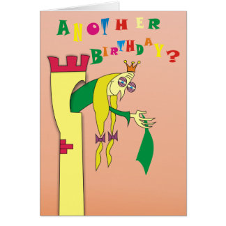 Old Princess in Tower Humorous Birthday Cards