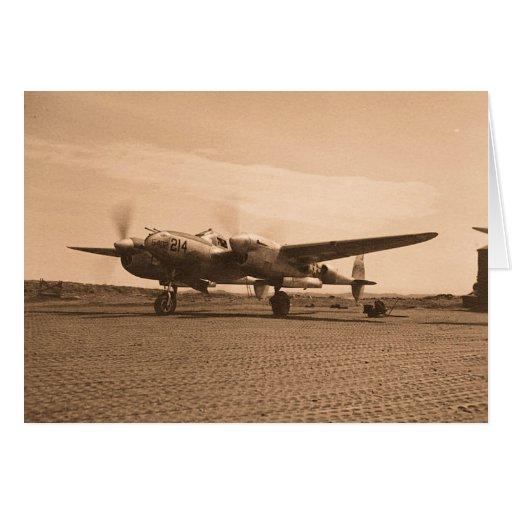 Old Prop Plane Greeting Card