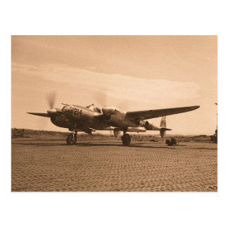 Old Prop Plane Postcard