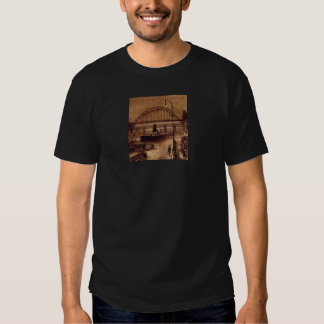 Old Quayside Adult Black Tee Shirt