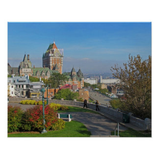 Old Quebec City View Poster